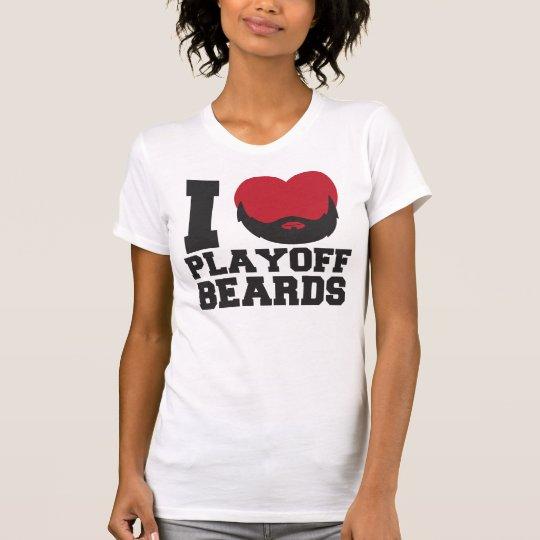 Playoff Beards (red) T-Shirt
