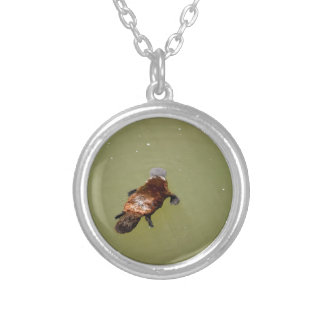 PLAYPUS EUNGELLA NATIONAL PARK AUSTRALIA SILVER PLATED NECKLACE