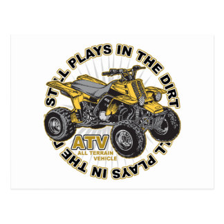 Plays in the Dirt ATV Postcard