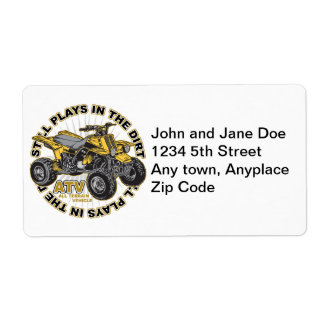 Plays in the Dirt ATV Shipping Label