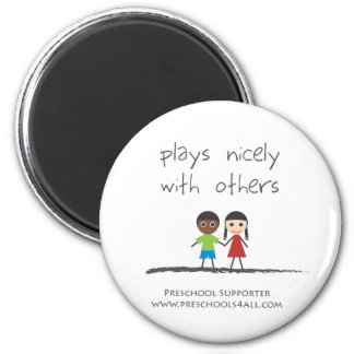 plays nicely with others 2 inch round magnet