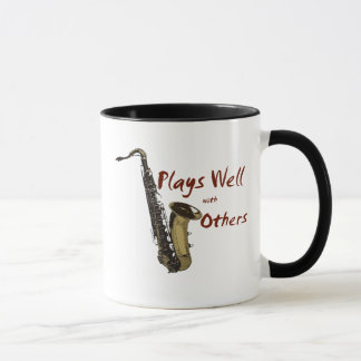 Plays Well Saxophone Mug