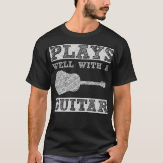 Plays Well with a Guitar Rocker T-Shirt