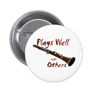 Plays Well with Others Clarinet 2 Inch Round Button