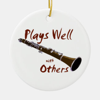 Plays Well with Others Clarinet Ceramic Ornament