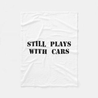 Plays With Cars Fleece Blanket