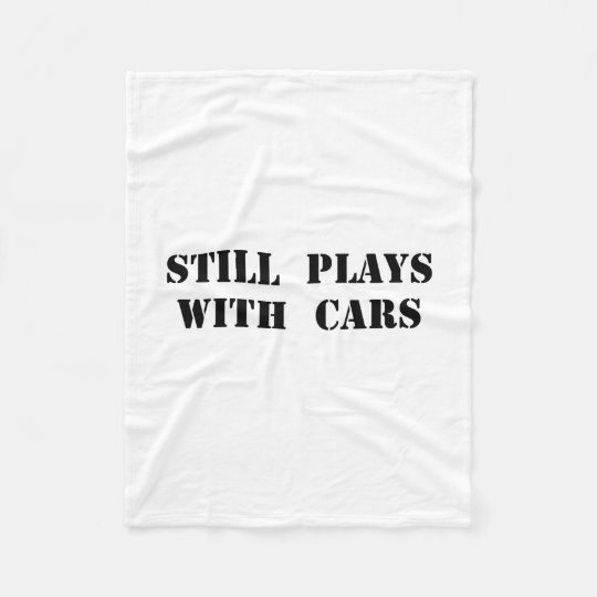 Plays With Cars Fleece Blanket