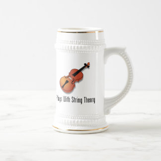 Plays With String Theory - Violin Beer Stein