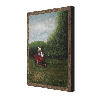 "Playtime (8.35"" x 10.65"" x 0.75) canvas print"