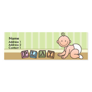 Playtime Baby Skinny Profile Cards Business Cards