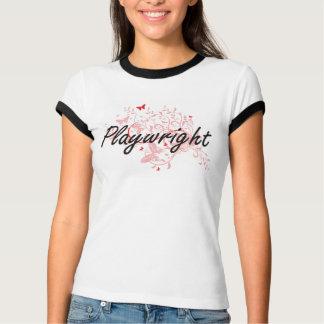 Playwright Artistic Job Design with Butterflies T-Shirt