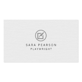 Playwright Paper Quill Icon Publishing Business Card