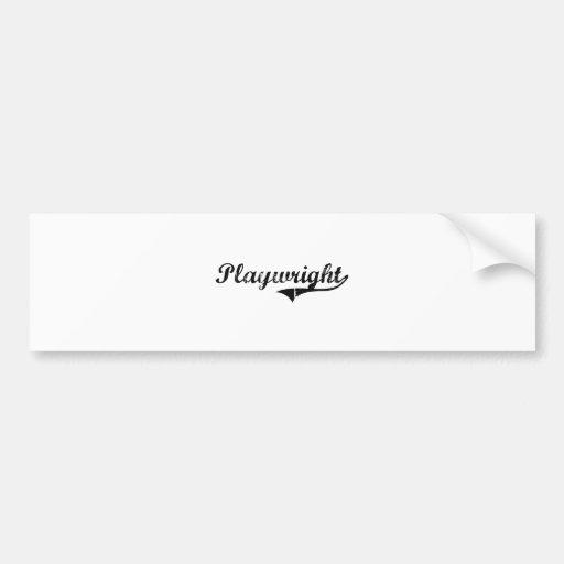 Playwright Professional Job Bumper Sticker