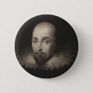 Playwright William Shakespeare by Cornelius Jansen 2 Inch Round Button