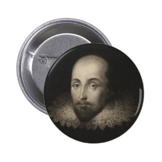 Playwright William Shakespeare by Cornelius Jansen 2 Inch Round Button
