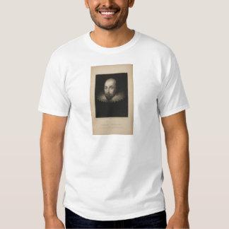 Playwright William Shakespeare by Cornelius Jansen T Shirts
