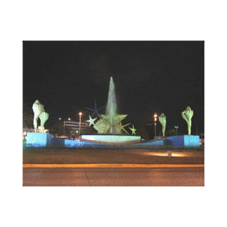 Plaza Caracol Fountain, Cancun Canvas