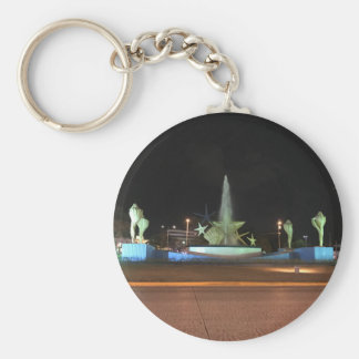 Plaza Caracol Fountain, Cancun Keychain