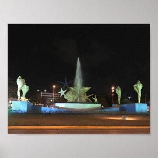 Plaza Caracol Fountain, Cancun Poster