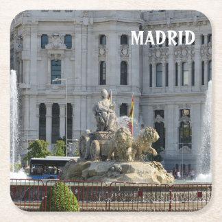 Plaza de Cibeles, Madrid Square Paper Coaster