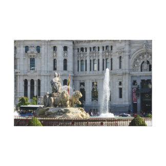 Plaza de Cibeles, Madrid Stretched Canvas Print