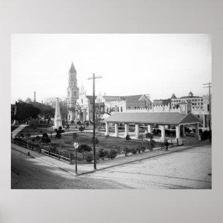 Plaza de la Constitucion, St. Augustine: 1897 Poster