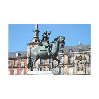 Plaza Mayor, Madrid Stretched Canvas Print