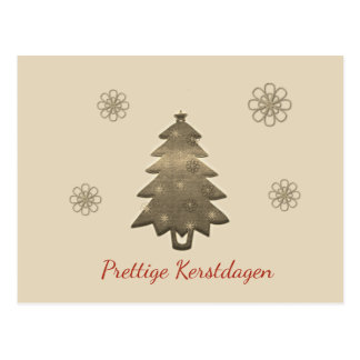 Pleasant Christmas days gold Christmas tree card