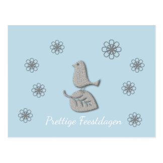 Pleasant holidays white Christmas card