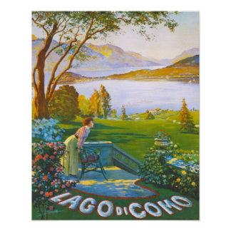 Pleasant Lake Como Italy Poster