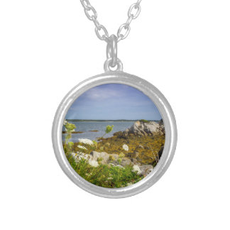 Pleasant Point Silver Plated Necklace