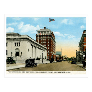 Pleasant St., New Bedford, MA Vintage Postcard