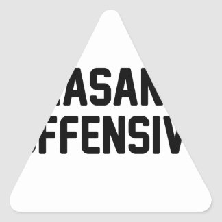Pleasantly Offensive Triangle Sticker