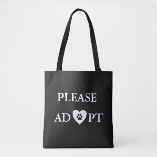 """Please Adopt"" Animal Tote Bag"