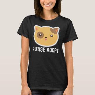 Please Adopt Cat Rescue T-shirt