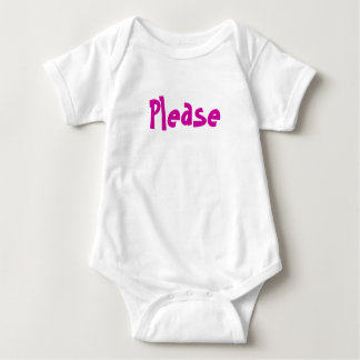 Please and Thank you Baby Bodysuit