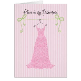 Please be my bridesmaid card