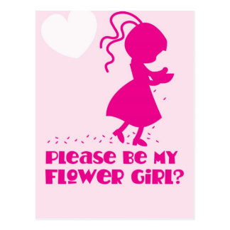 Please be my Flower Girl Greeting card Postcard