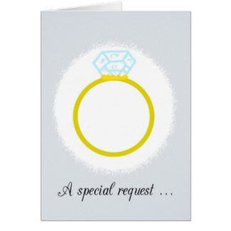 Please Be My Ring Bearer Invitation card. Greeting Card