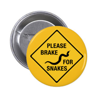 Please Brake For Snakes, Traffic Sign, Canada 2 Inch Round Button