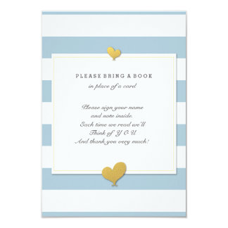 """Please Bring A Book Baby Shower Insert Card 3.5"""" X 5"""" Invitation Card"""