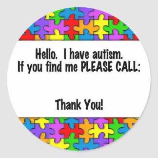 Please Call Autism ID Tag