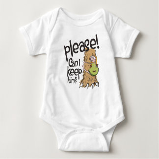Please CAN I keep him? Baby Bodysuit