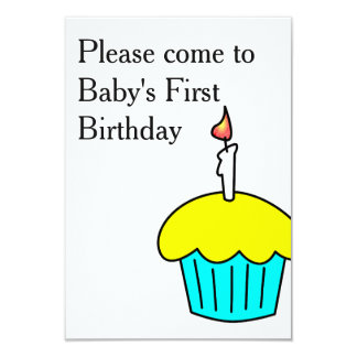 Please Come to Baby's First Birthday Card