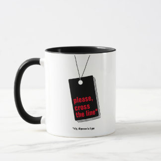 Please, cross-country race the line* - text mug
