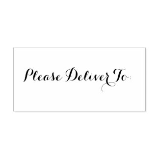 Please Deliver To: Office Stamper Self-inking Stamp