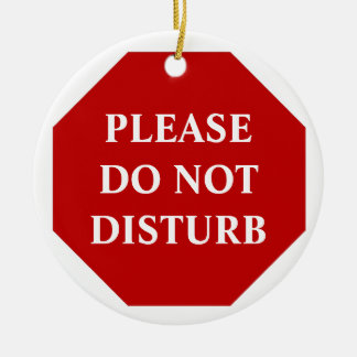 Please Do Not Disturb Door Hanger Ceramic Ornament