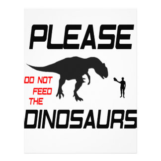 Please Do Not Feed The Dinosaurs Letterhead