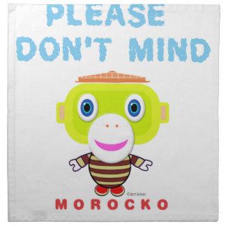 Please Don't Mind-Cute Monkey-Morocko Napkin