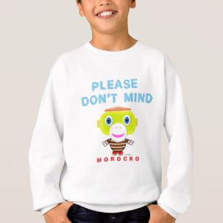 Please Don't Mind-Cute Monkey-Morocko Sweatshirt